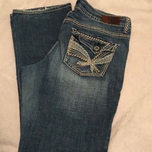 Hydraulic Jeans Flare Leg size 18